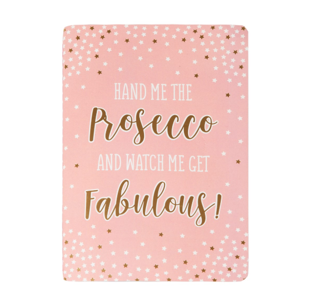 A5 Notebook - Fabulous Pink Prosecco Party - Sass and Belle