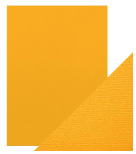 Craft Perfect A4 Texture Weave Card 10pk Amber Yellow