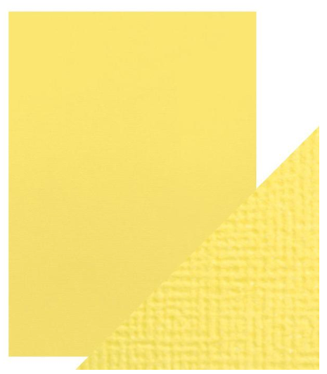 Craft Perfect A4 Texture Weave Card 10pk Buttermilk Yellow