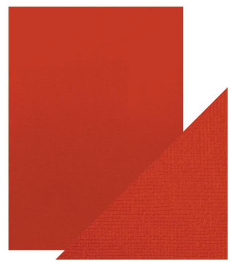 Craft Perfect A4 Texture Weave Card 10pk Chilli Red