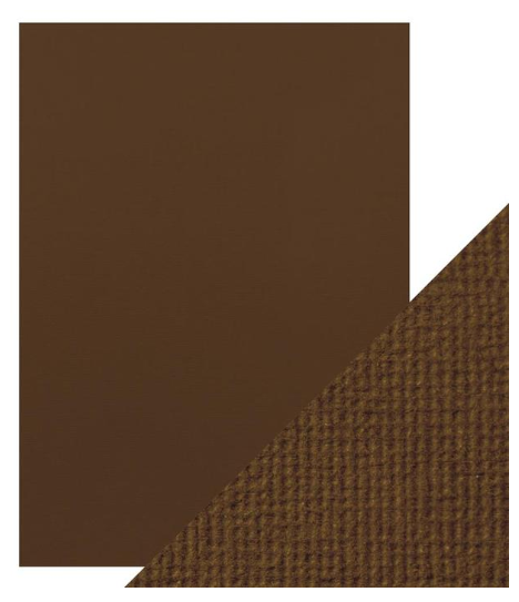 Craft Perfect A4 Texture Weave Card 10pk Chocolate Brown