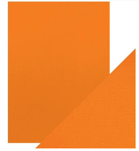 Craft Perfect A4 Texture Weave Card 10pk Clementine Orange