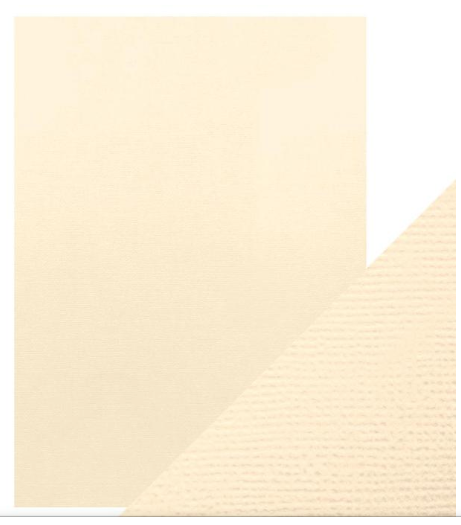 Craft Perfect A4 Texture Weave Card 10pk Cream