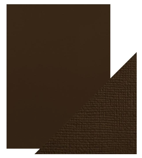 Craft Perfect A4 Texture Weave Card 10pk Espresso Brown