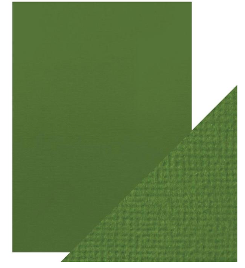 Craft Perfect A4 Texture Weave Card 10pk Fern Green