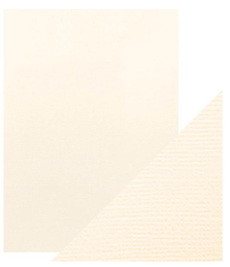 Craft Perfect A4 Texture Weave Card 10pk Ivory