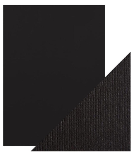 Craft Perfect A4 Texture Weave Card 10pk Jet Black