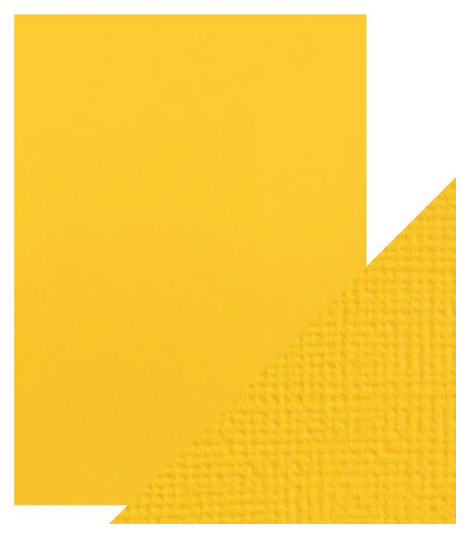 Craft Perfect A4 Texture Weave Card 10pk Marigold Yellow