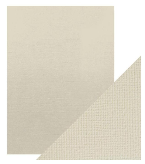 Craft Perfect A4 Texture Weave Card 10pk Oyster Grey