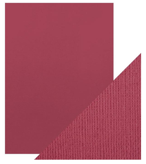 Craft Perfect A4 Texture Weave Card 10pk Raspberry Pink
