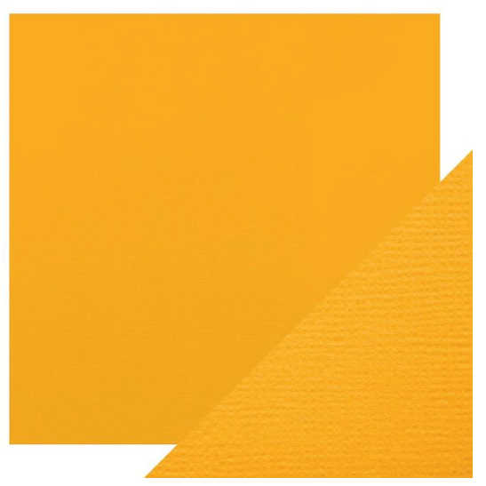 Craft Perfect 12 x 12 Texture Weave Card 5pk Amber Yellow