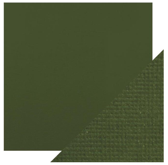Craft Perfect 12 x 12 Texture Weave Card 5pk Avocado Green
