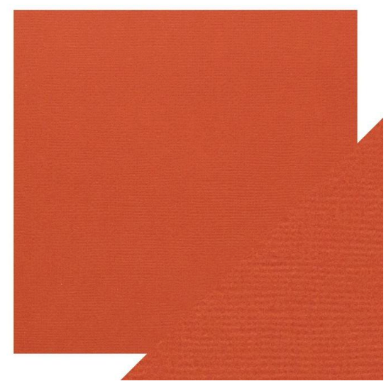 Craft Perfect 12 x 12 Texture Weave Card 5pk Brick Red