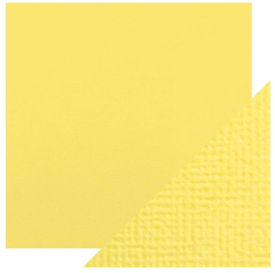 Craft Perfect 12 x 12 Texture Weave Card 5pk Buttermilk Yellow