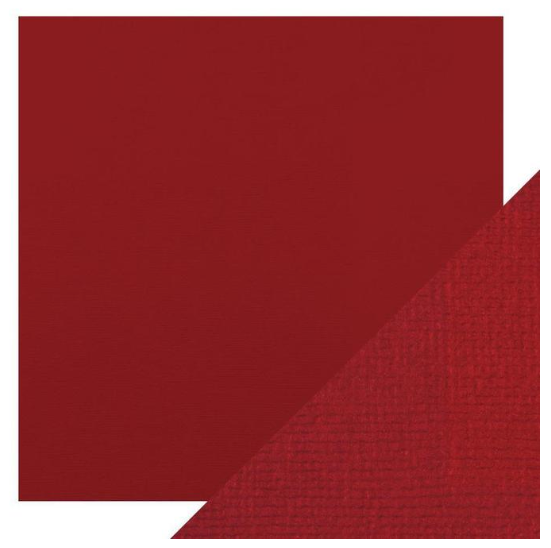 Craft Perfect 12 x 12 Texture Weave Card 5pk Cherry Red