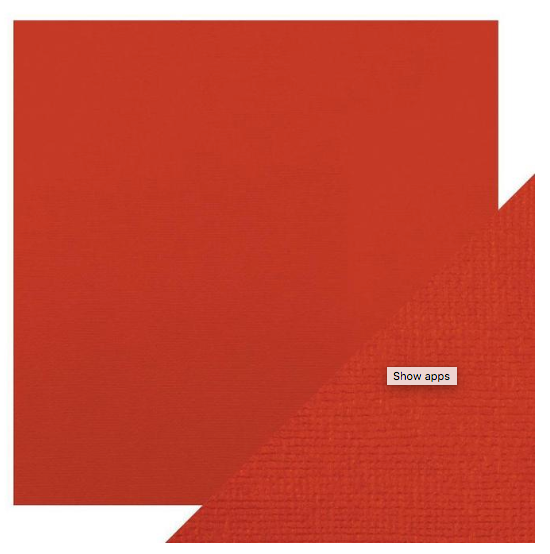 Craft Perfect 12 x 12 Texture Weave Card 5pk Chilli Red