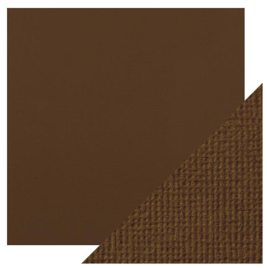 Craft Perfect 12 x 12 Texture Weave Card 5pk Chocolate Brown
