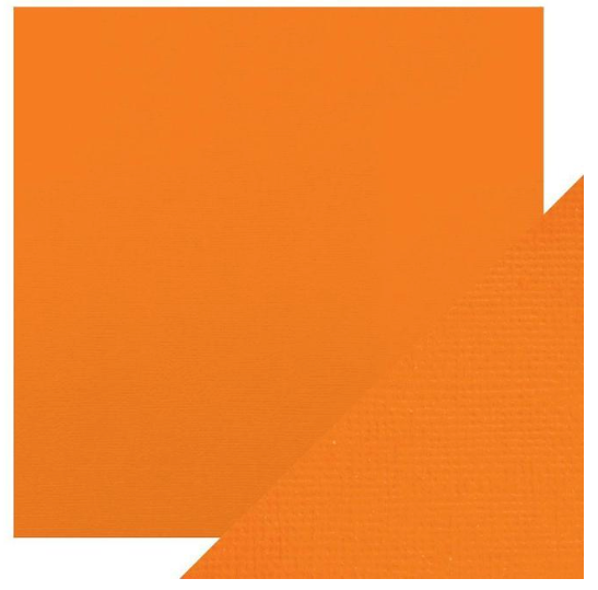 Craft Perfect 12 x 12 Texture Weave Card 5pk Clementine Orange