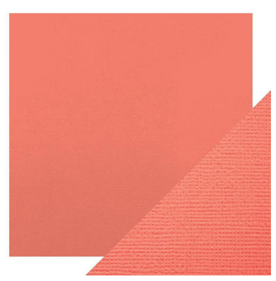 Craft Perfect 12 x 12 Texture Weave Card 5pk Coral Pink