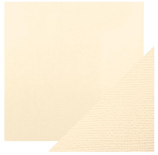 Craft Perfect 12 x 12 Texture Weave Card 5pk Cream