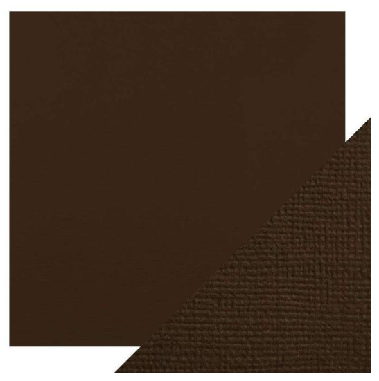 Craft Perfect 12 x 12 Texture Weave Card 5pk Espresso Brown
