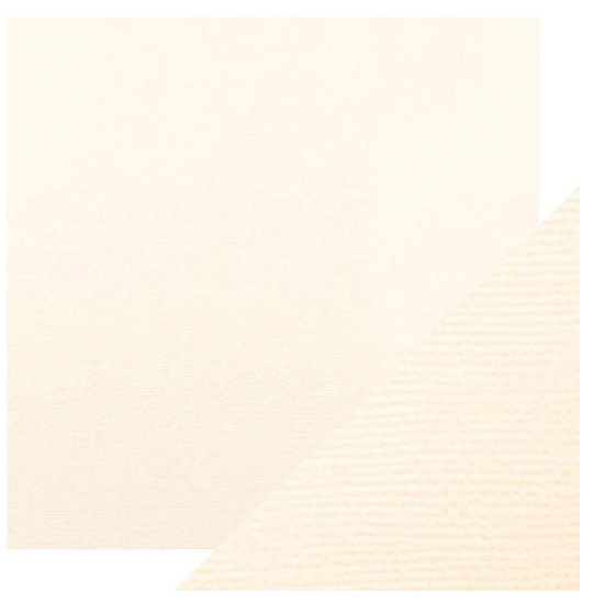 Craft Perfect 12 x 12 Texture Weave Card 5pk Ivory White