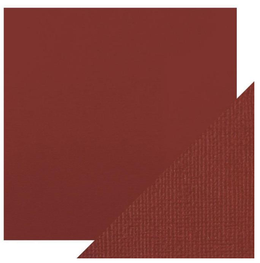 Craft Perfect 12 x 12 Texture Weave Card 5pk Maroon Red