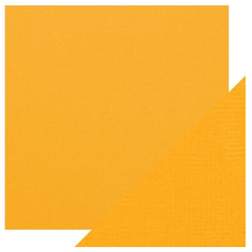 Craft Perfect 12 x 12 Texture Weave Card 5pk Mustard Yellow