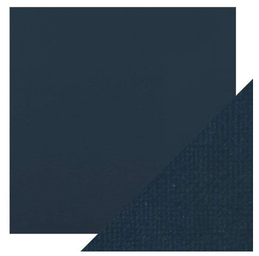 Craft Perfect 12 x 12 Texture Weave Card 5pk Navy Blue