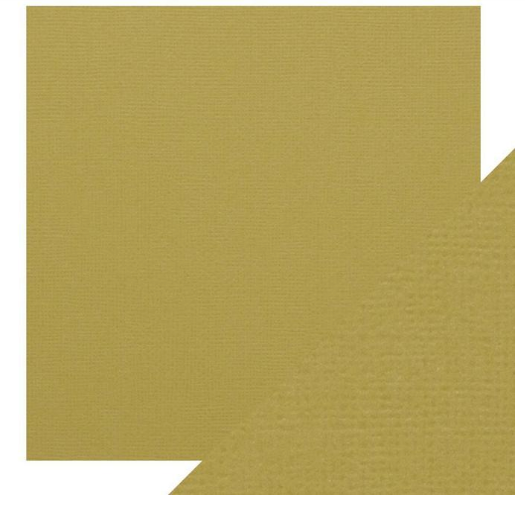 Craft Perfect 12 x 12 Texture Weave Card 5pk Olive Green