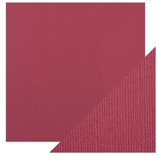 Craft Perfect 12 x 12 Texture Weave Card 5pk Raspberry Pink