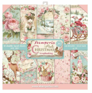 Pink Christmas 8 x 8 Paper Pad - Stamperia