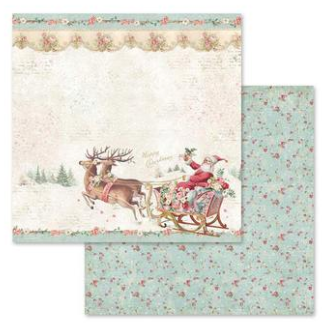 Pink Christmas 12 x 12 Paper Pad - Stamperia