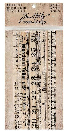Tim Holtz Idea-ology Wooden Ruler Pieces 5pcs