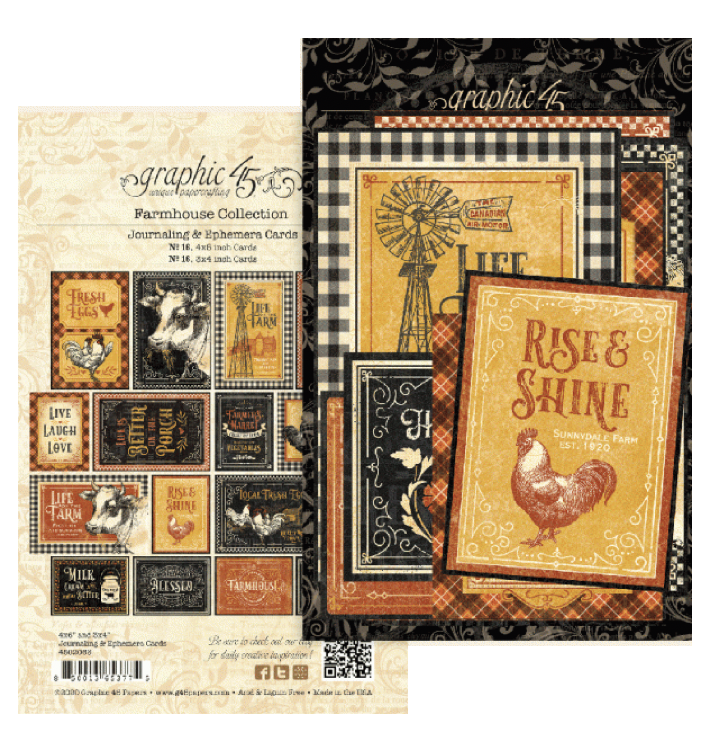 Graphic 45 Farmhouse Ephemera/Journaling Cards