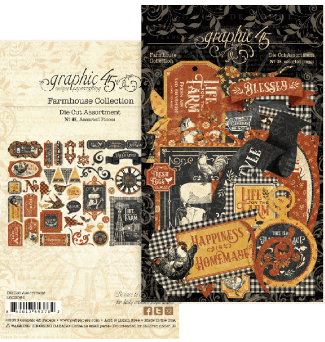 Graphic 45 Farmhouse Die Cut Assortment