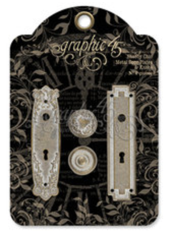 Graphic 45 Shabby Chic Metal Door Plates & Knobs - Graphic 45