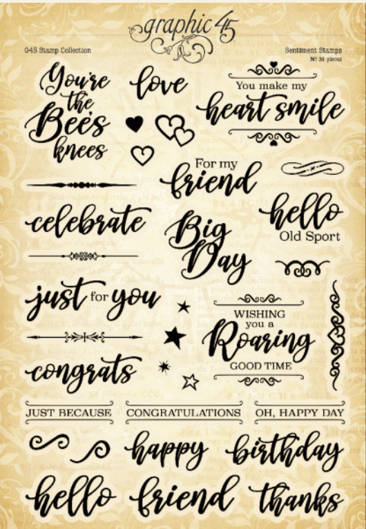 Sentiment Stamp Set - Graphic 45