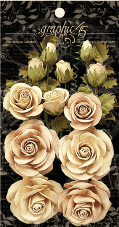 Rose Bouquet Collection—Classic Ivory & Natural Linen