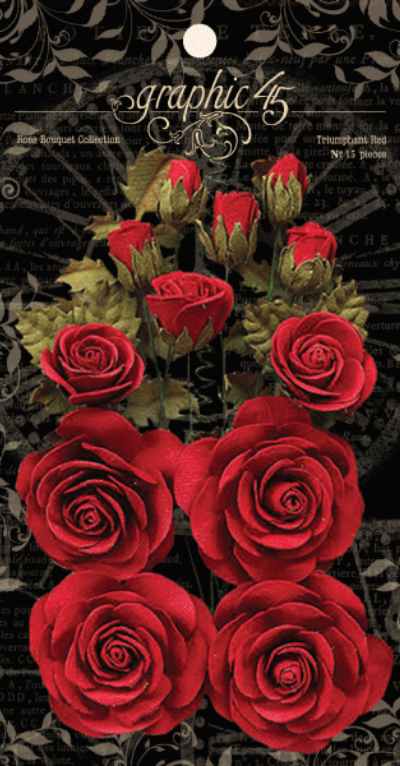 Rose Bouquet Collection—Triumphant Red