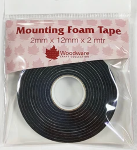 Woodware - Black Mounting Foam Tape 2mm x 2m