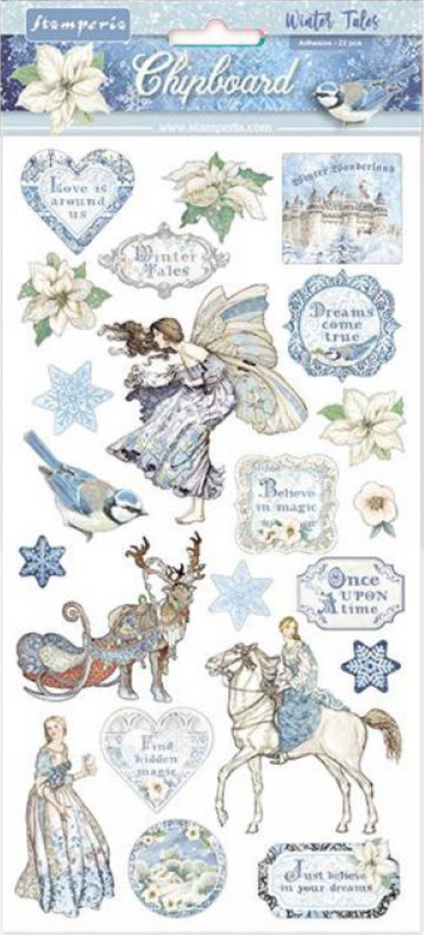 Winter Tales Chipboard Stamperia