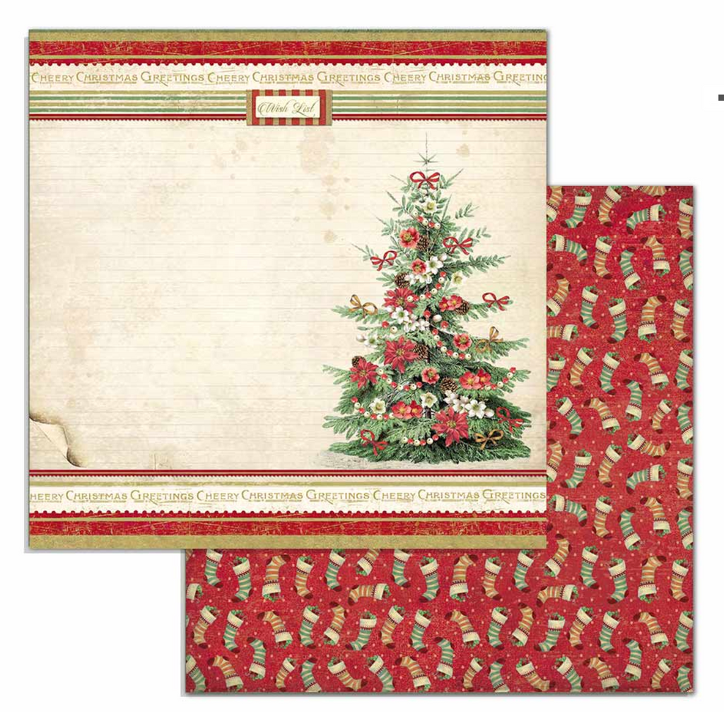 Classic Christmas 12 x 12 Paper Pad Stamperia