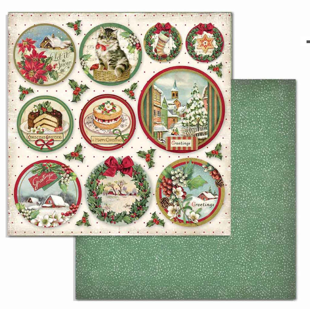 Classic Christmas 8 x 8 Pad Stamperia