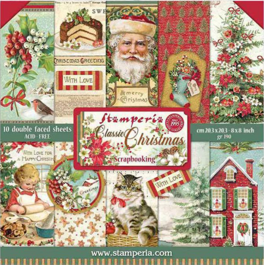 Classic Christmas 8 x 8 Pad Stampeira