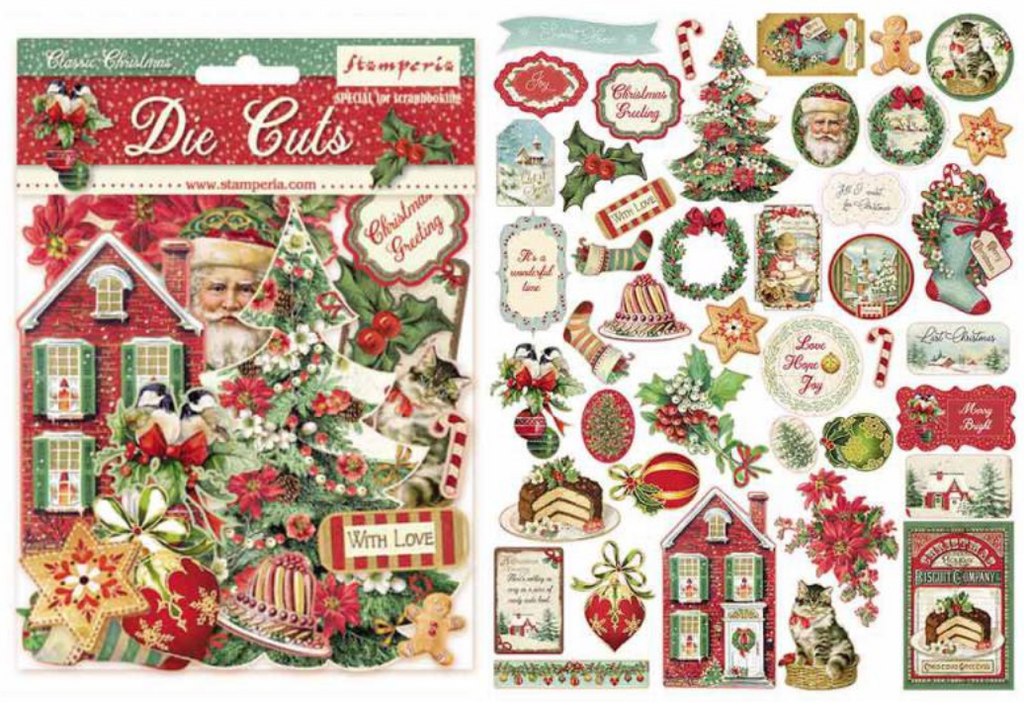 Classic Christmas Die Cuts by Stamperia