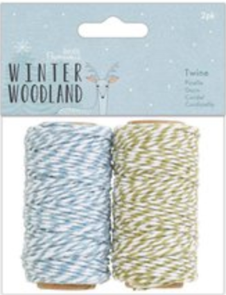 Winter Woodland Twine (2 pack) Papermania