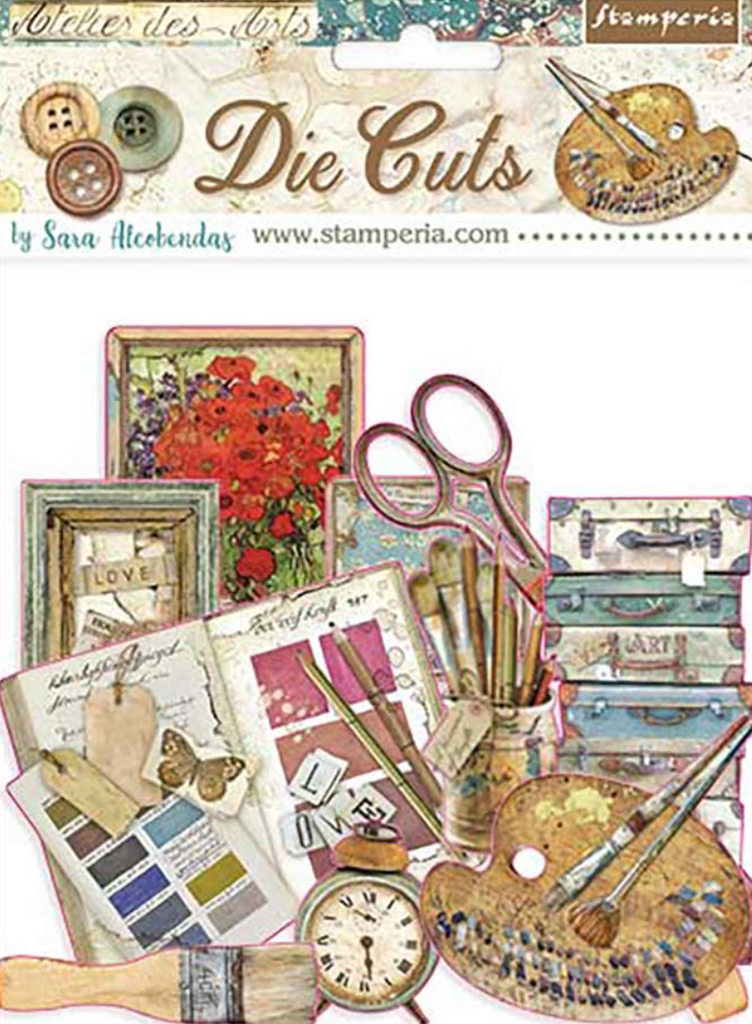 Atelier des Arts Die Cut pack Stamperia