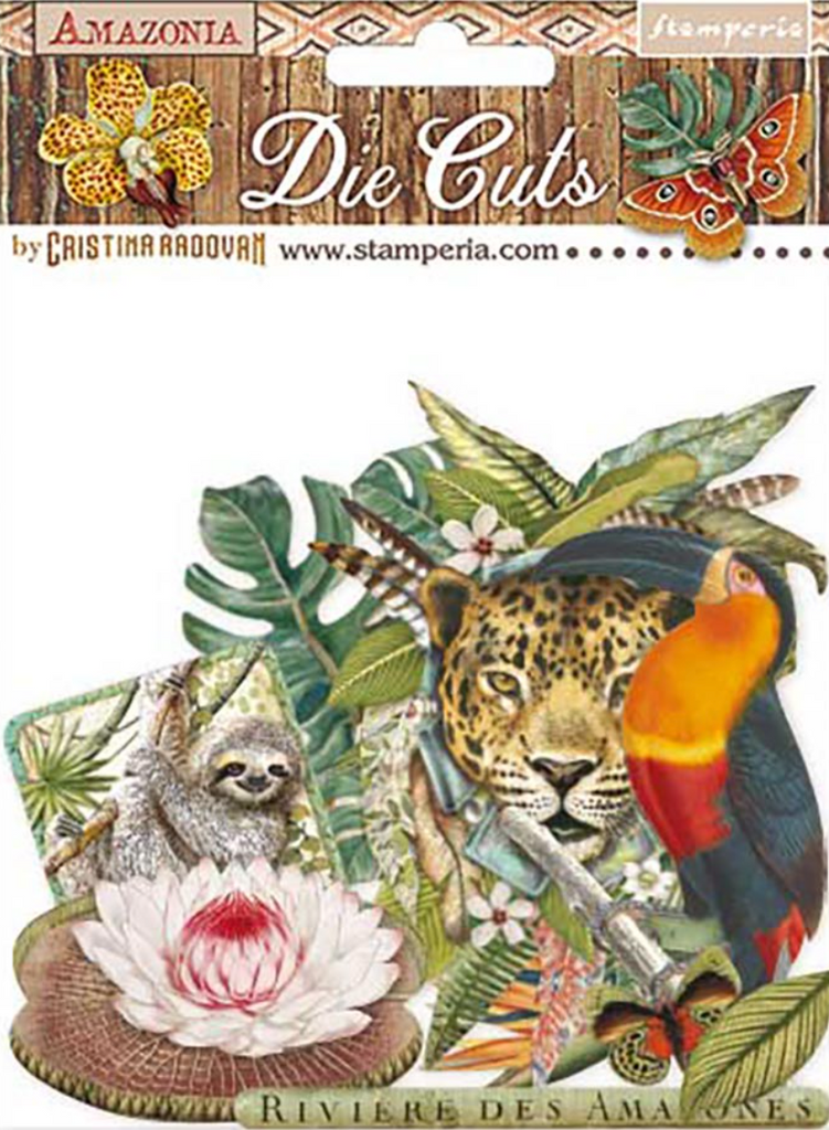 Amazonia die cut pack Stamperia