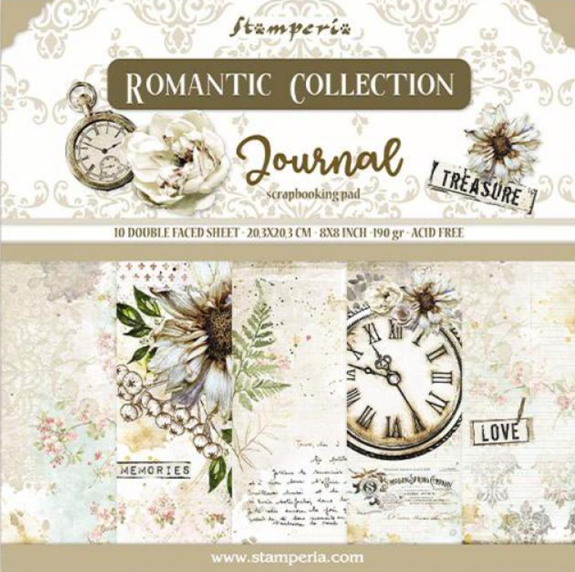 Romantic Collection - Journal 8 x 8 Stamperia